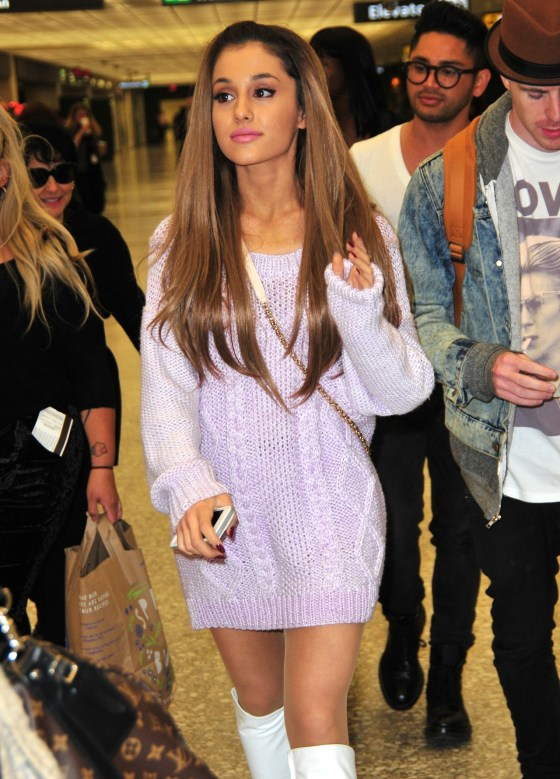 Ariana Grande spotted at the airport in Washington, DC